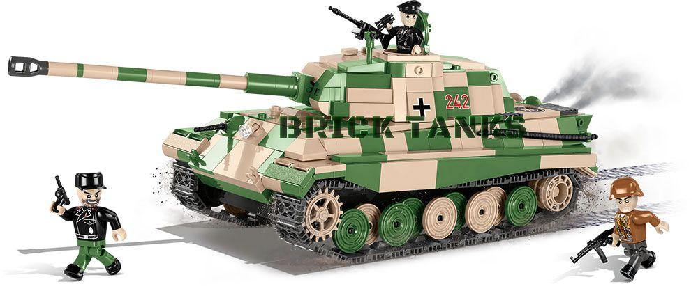 SD.KFZ.182 Kingtiger (Porsche Turret) - Lego compatible COBI 2480A - 630 brick heavy tank - BRICKTANKS