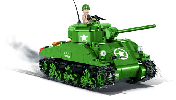 Sherman M4A1 - Lego compatible COBI 2464A - 480 brick medium tank - BRICKTANKS