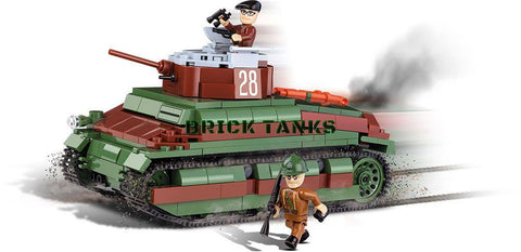 Somua S-35 - Lego compatible COBI 2493 - 450 brick medium tank - BRICKTANKS