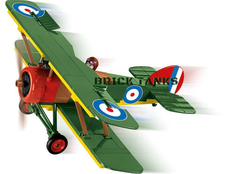 Sopwith F1 Camel - Lego compatible COBI 2975 - WWI 170 brick fighter aircaft - BRICKTANKS