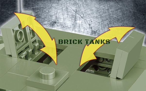 Stryker M1126 ICV - Lego compatible COBI 2610 - 485 brick armoured personnel carrier - BRICKTANKS