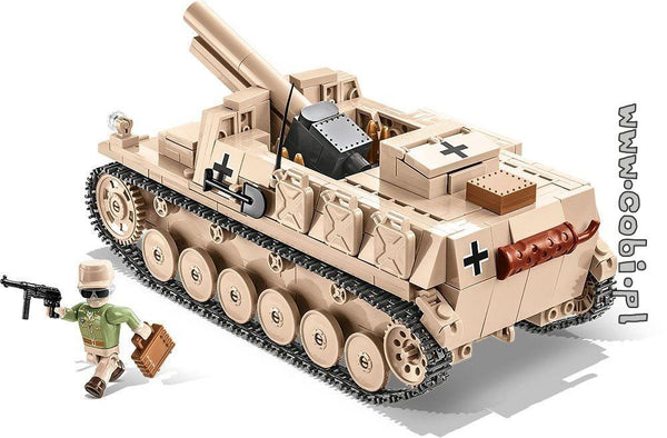 Sturmpanzer II - Lego compatible COBI 2528 - 465 brick self-propelled gun - BRICKTANKS