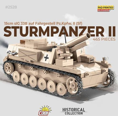 Sturmpanzer II - COBI 2528 - 465 brick self-propelled gun - BRICKTANKS