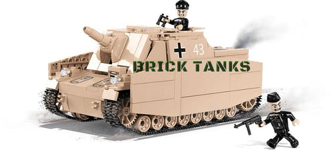 Sturmpanzer IV (Brummbär) - Lego compatible COBI 2514 - 555 brick self-propelled gun - BRICKTANKS