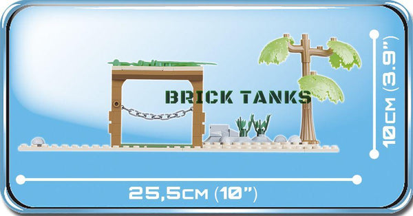 Supermarine Spitfire MK IX (Desert Airstrip) - Lego compatible COBI 5545 - 400 brick set piece - BRICKTANKS