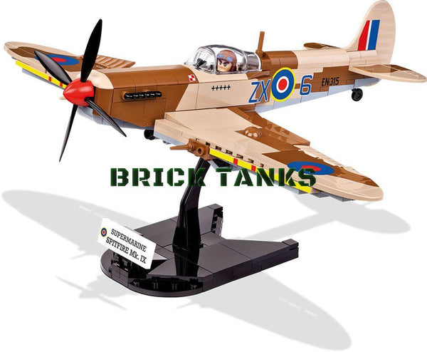 Supermarine Spitfire Mk IX - Lego compatible COBI 5525 - 280 brick fighter aircraft - BRICKTANKS