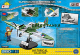 Supermarine Spitfire Mk VB - Lego compatible COBI 5708 - 280 brick fighter aircraft - BRICKTANKS