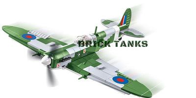 Supermarine Spitfire Mk VB - COBI 5708 - 280 brick fighter aircraft - BRICKTANKS