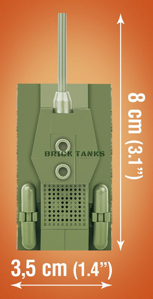 T-34 (Nano Tank) - Lego compatible COBI 3021 - 62 brick medium tank - BRICKTANKS