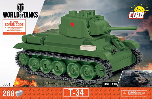 T-34 ('World of Tanks') - COBI 3061 - 268 brick medium tank - BRICKTANKS