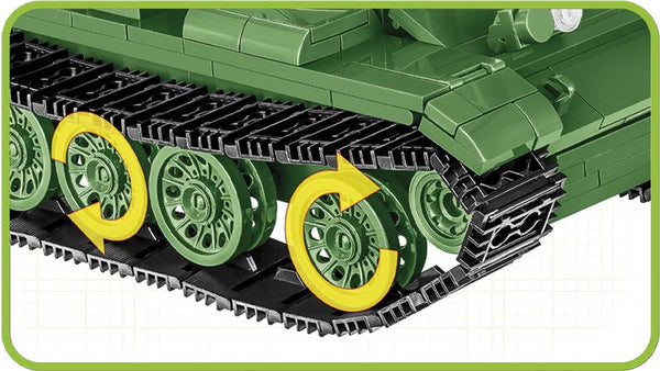 T-55 Tank - Lego compatible COBI 2234 - 506 brick main battle tank - BRICKTANKS
