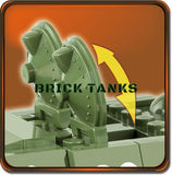 T34/85 RUDY - COBI 2486A - 530 brick medium tank - BRICKTANKS