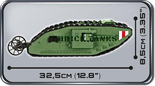 Tank Mark I - Lego compatible COBI 2972 - WWI 605 brick tank - BRICKTANKS