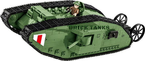 Tank Mark I - COBI 2972 - WWI 605 brick tank - BRICKTANKS