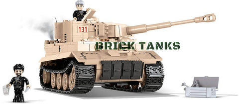 Tiger I 131 (Bovington) - Lego compatible COBI 2519 - 550 brick heavy tank - BRICKTANKS