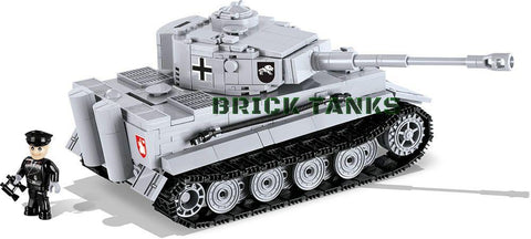 Tiger I ('World of Tanks') - Lego compatible COBI 3000B - 545 brick heavy tank - BRICKTANKS