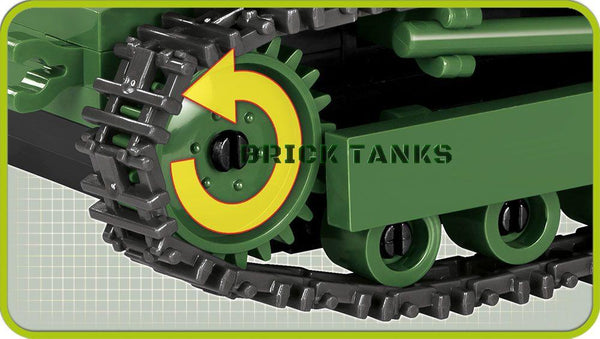 TK-3 Tankette - Lego compatible COBI 2392 - 250 brick light tank - BRICKTANKS
