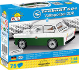 Trabant 601 Volkspolizei DDR (Youngtimer Collection) - Cobi 24520 - 75 brick car - BRICKTANKS