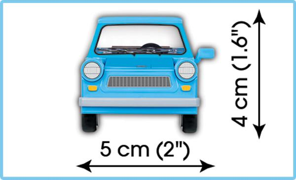 Trabant 601 (Youngtimer Collection) - COBI 24539 - 72 brick car - BRICKTANKS