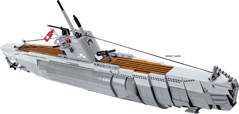 U-Boot VIIB U-48 - COBI 4805 - 800 brick submarine - BRICKTANKS