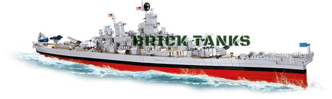USS Iowa/USS Missouri (BB61/BB63) - Lego compatible COBI 4812 - 2410 brick battleship - BRICKTANKS