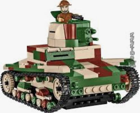 Vickers MK E (Type B) - Lego compatible COBI 2520 - 382 brick light tank - BRICKTANKS