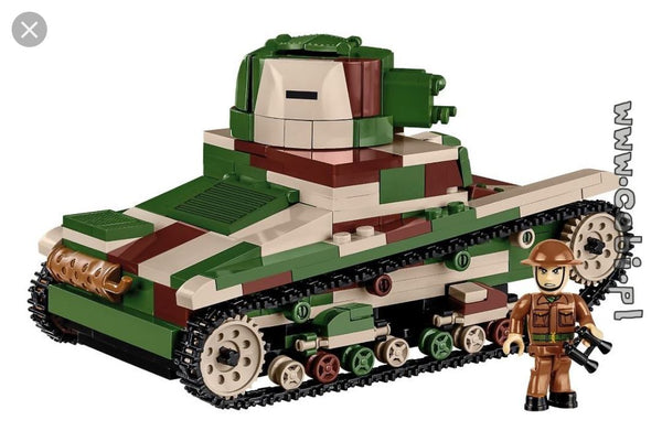 Vickers MK E (Type B) - Lego compatible COBI 2520 - 380 brick light tank - BRICKTANKS