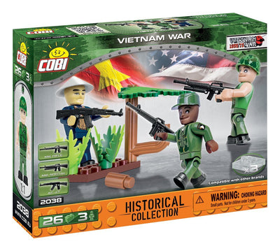 Vietnam War Soldiers (3) - COBI 2038 - 26 brick figurines - BRICKTANKS