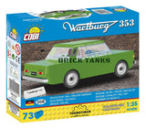 Wartburg 353 - COBI 24542 - 73 piece automobile - BRICKTANKS