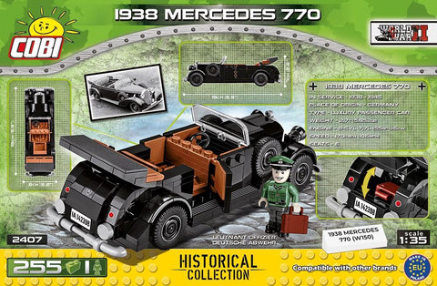 WWII 1938 Mercedes 770 (W150) - COBI 2407 - 225 Bricks - BRICKTANKS