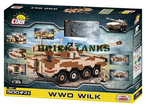 WWO WILK - Lego compatible COBI 2617 - 500 brick wheeled fighting vehicle - BRICKTANKS