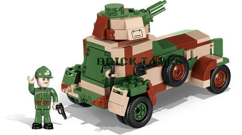 WZ34 Armoured Car - Lego compatible COBI 2393 - 253 brick armoured car - BRICKTANKS