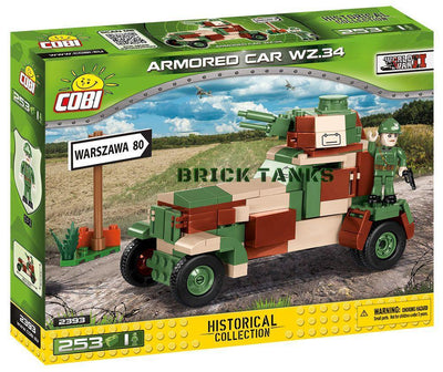WZ34 Armoured Car - COBI 2393 - 253 brick armoured car - BRICKTANKS