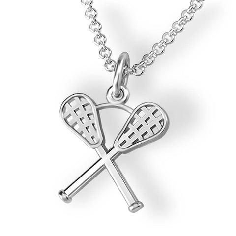 Crossed Lacrosse Sticks Pendant