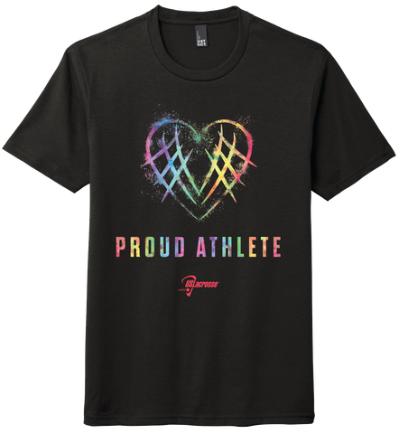 "Adult's US Lacrosse ""Proud Athlete"" Tri-Blend Short Sleeve Tee"