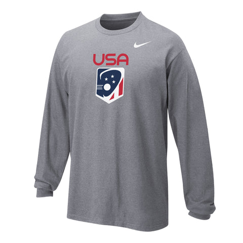 Youth Team USA Nike Core Cotton Long Sleeve T-Shirt