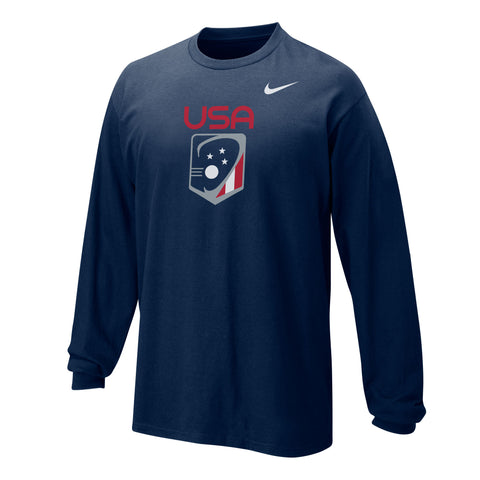 Youth Boy's Team USA Nike Core Cotton LS T-Shirt