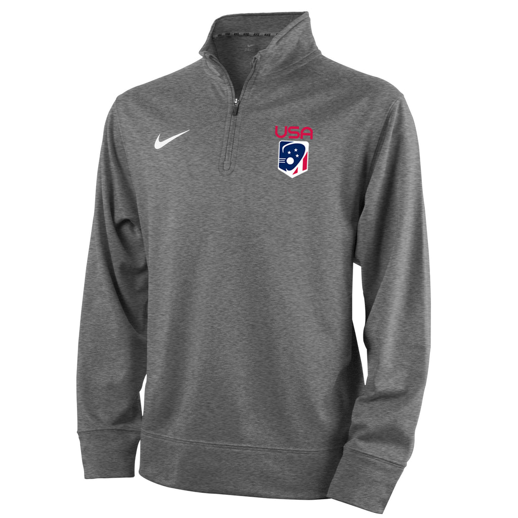 515814d8e293 Youth Boy s Team USA Nike Therma 1 4 Zip Pullover – US Lacrosse Member Store