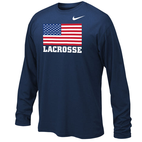 Youth Boy's Team USA Nike Dri-Fit Legend 2.0 Long Sleeve Flag Tee