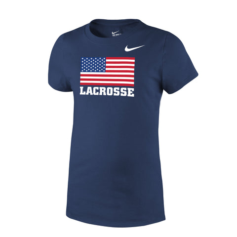 Youth Girl's Team USA Nike Core Cotton Flag Tee