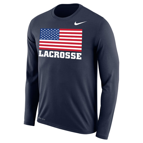 Men's Team USA Nike Dri-Fit Legend LS Flag Tee