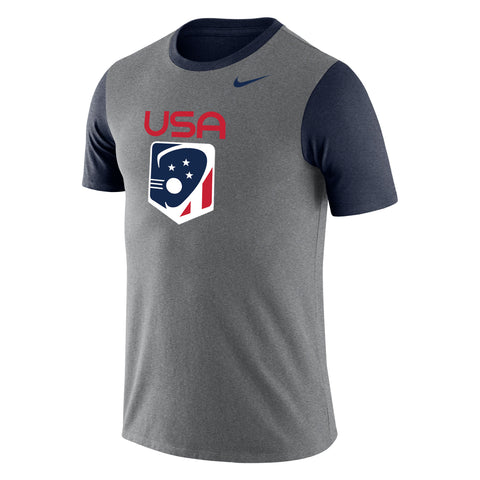 Men's Team USA Nike Tri-Blend Color Block Tee