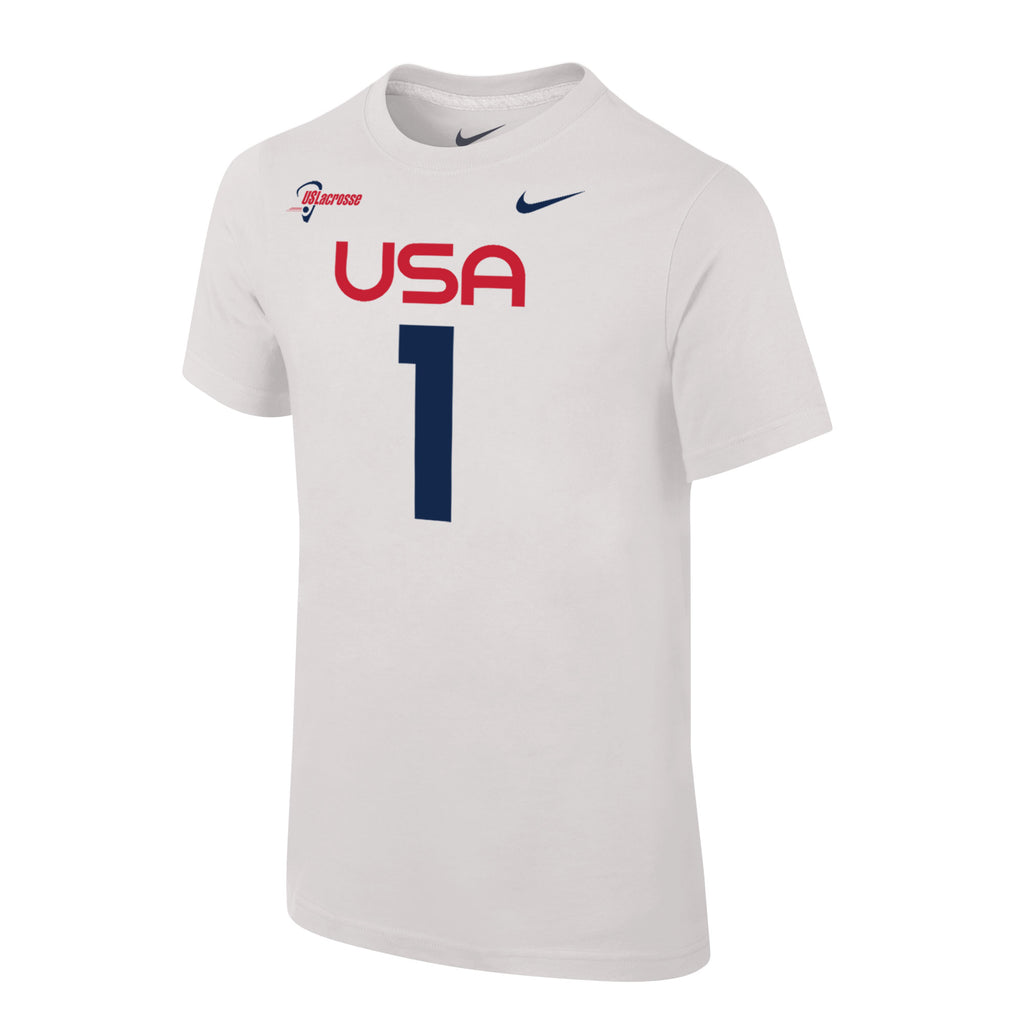 Convertire personaggio Anziani  Youth Team USA Nike Special Edition Jersey Tee #1 – US Lacrosse Member Store