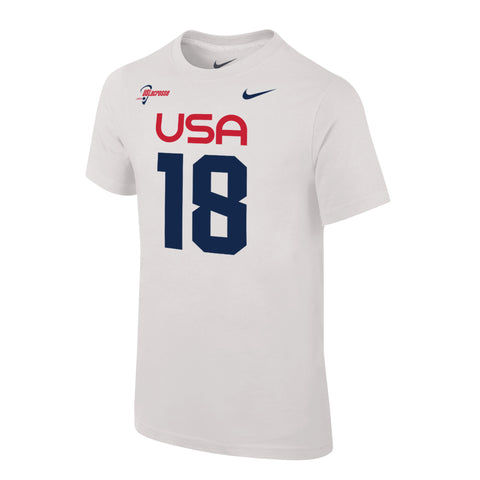 Youth Team USA Nike Special Edition Jersey Tee #18