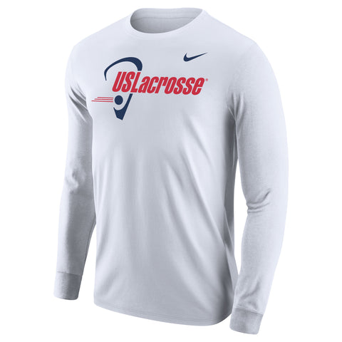 Men's US Lacrosse Nike Core Cotton LS T-shirt