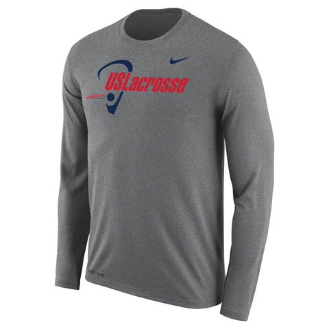 Men's US Lacrosse Nike Dri-Fit Legend Long Sleeve Tee