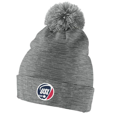 US Lacrosse Nike Swoosh Heather Pom Beanie