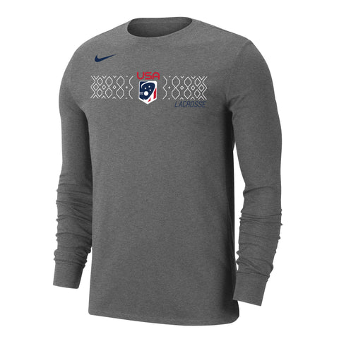 Men's USA Grid Nike Dri-FIT Cotton Long Sleeve Tee