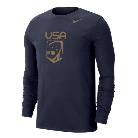 Men's USA Gold Nike Dri-FIT Cotton Long Sleeve Tee