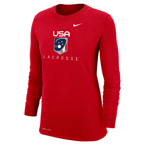 Women's USA Lacrosse Nike Dri-Fit Cotton Long Sleeve Tee